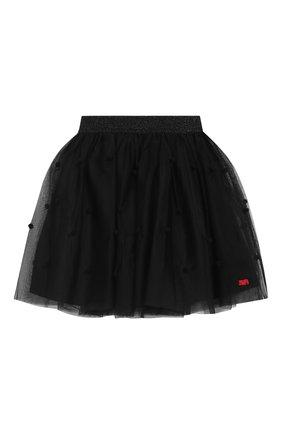 Многослойная юбка с полупрозрачной отделкой | Фото №1