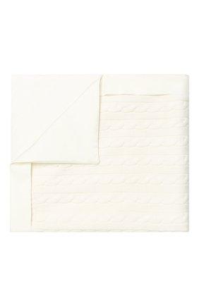 Детского одеяло фактурной вязки LORO PIANA белого цвета, арт. FAD5709 | Фото 1