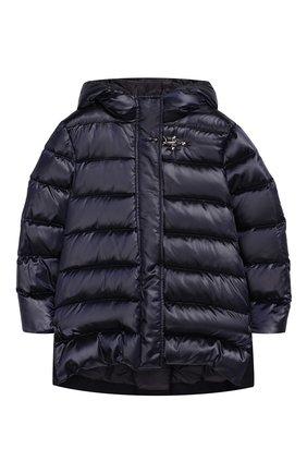 Комбинированное пальто с капюшоном | Фото №1
