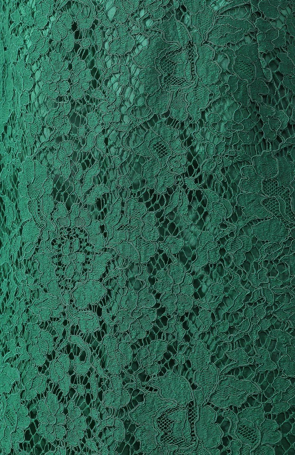 Кружевная юбка-карандаш с разрезом | Фото №5
