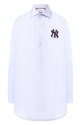Хлопковая блуза свободного кроя | Фото №1