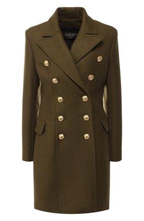 Двубортное пальто из смеси шерсти и кашемира