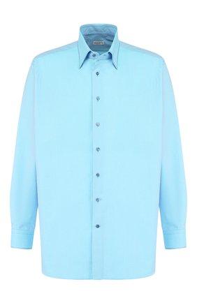 Мужская хлопковая рубашка с воротником кент ZILLI голубого цвета, арт. MFQ-MERCU-46213/RE01 | Фото 1