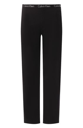Мужские хлопковые домашние брюки с широкой резинкой CALVIN KLEIN черного цвета, арт. NB1160E | Фото 1