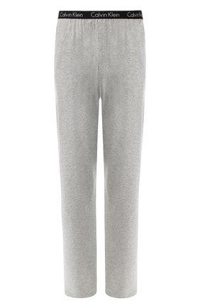 Мужские хлопковые домашние брюки с широкой резинкой CALVIN KLEIN серого цвета, арт. NB1160E   Фото 1