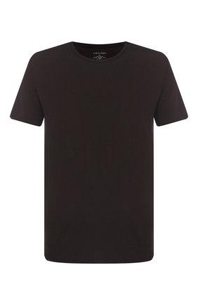 Мужские хлопковая футболка CALVIN KLEIN черного цвета, арт. NB1332A | Фото 1