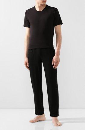 Мужские хлопковая футболка CALVIN KLEIN черного цвета, арт. NB1332A | Фото 2