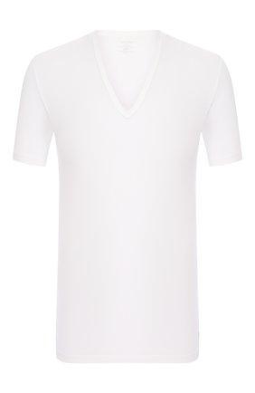 Мужская хлопковая футболка CALVIN KLEIN белого цвета, арт. NB1336A | Фото 1 (Рукава: Короткие; Материал внешний: Хлопок; Статус проверки: Проверено, Проверена категория; Длина (для топов): Стандартные; Мужское Кросс-КТ: Футболка-белье; Кросс-КТ: домашняя одежда)