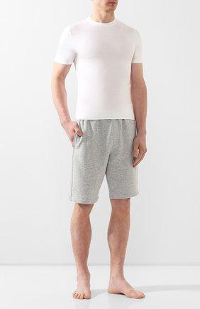Мужские хлопковые домашние шорты с широкой резинкой CALVIN KLEIN серого цвета, арт. NM1358E | Фото 2