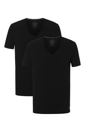 Комплект из двух футболок с V-образным вырезом   Фото №1