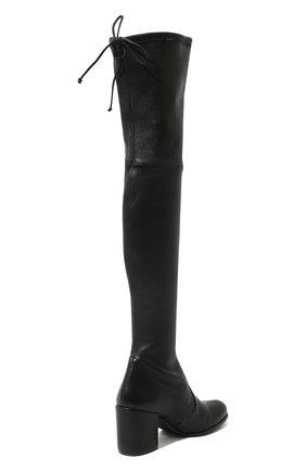 Кожаные ботфорты на устойчивом каблуке | Фото №5