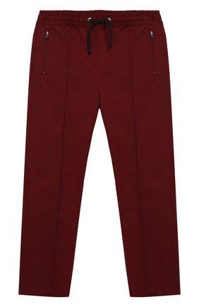 Хлопковые брюки с поясом на кулиске | Фото №1