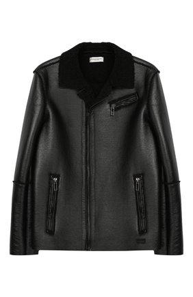 Куртка с косой молнией и отделкой | Фото №1