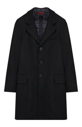Шерстяное однобортное пальто с подстежкой | Фото №1
