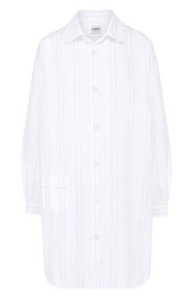Хлопковая сорочка в полоску | Фото №1