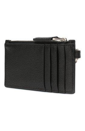 Мужской кожаный футляр для кредитных карт GUCCI черного цвета, арт. 523815/CWGRN | Фото 2