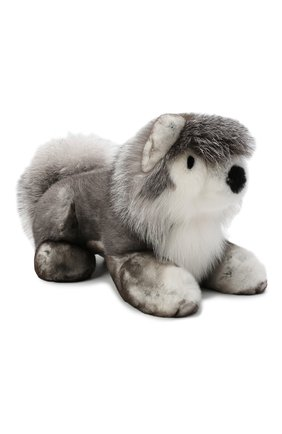 Мужского игрушка волк с меховой отделкой LORO PIANA серого цвета, арт. FAF6036 | Фото 1