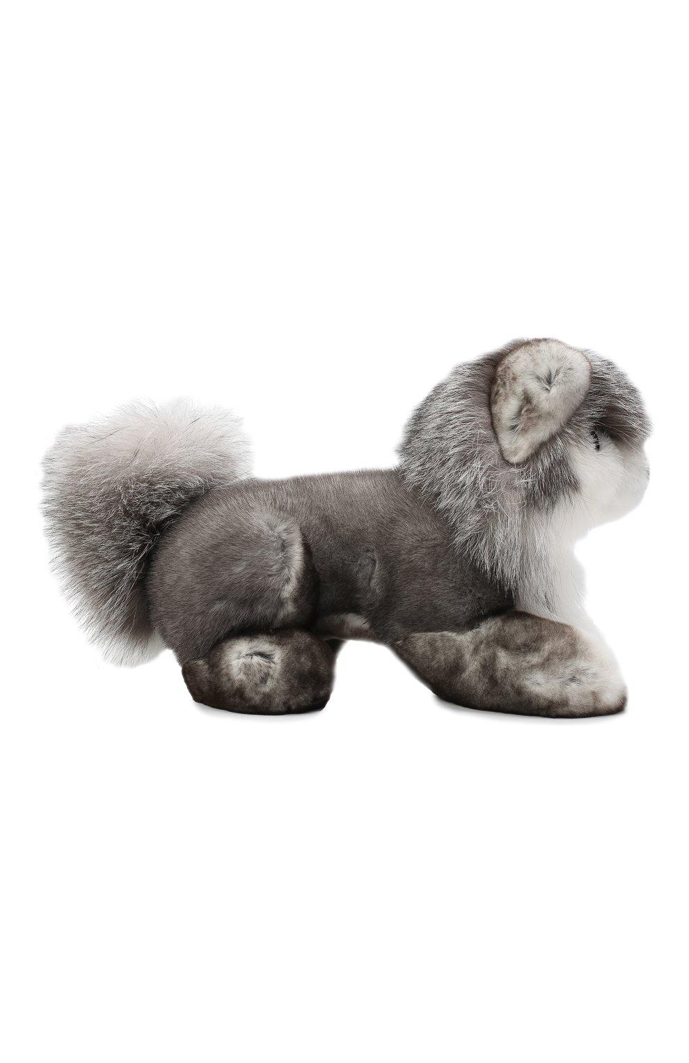 Мужского игрушка волк с меховой отделкой LORO PIANA серого цвета, арт. FAF6036 | Фото 2