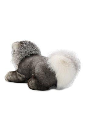 Мужского игрушка волк с меховой отделкой LORO PIANA серого цвета, арт. FAF6036 | Фото 3