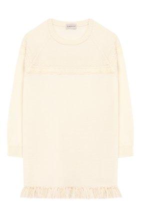Шерстяное платье с бахромой | Фото №1