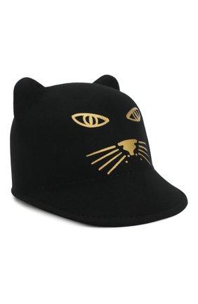 Шерстяная шляпа с декором | Фото №1