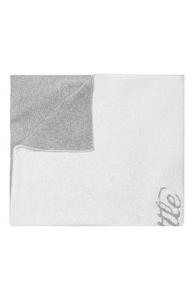 Детского кашемировое одеяло LOVE IN KYO белого цвета, арт. A18608 | Фото 1