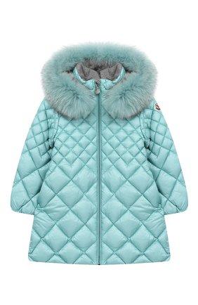 Стеганое пальто на молнии с капюшоном | Фото №1