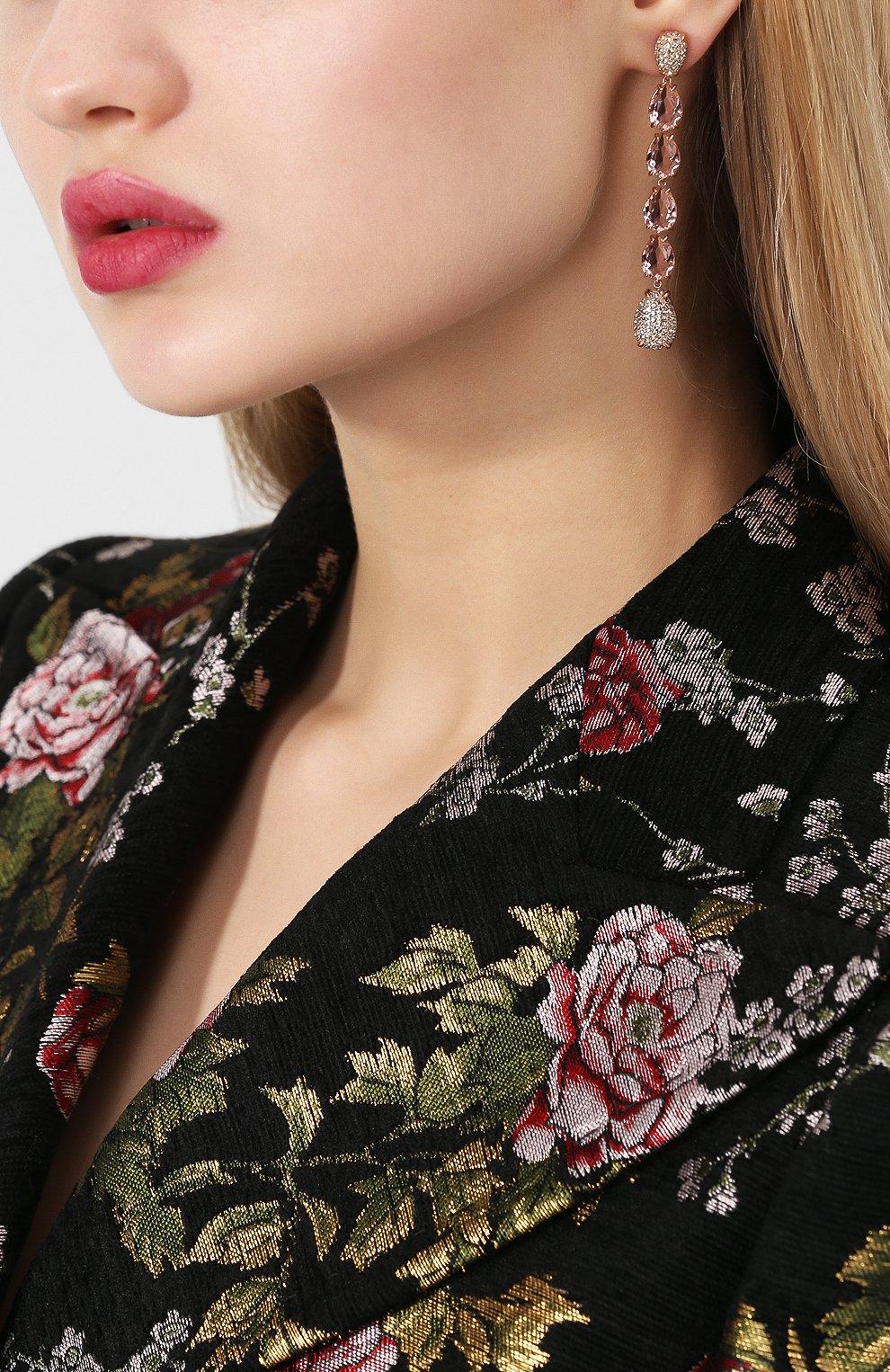 Женские серьги mix SWAROVSKI розового цвета, арт. 5427953   Фото 2