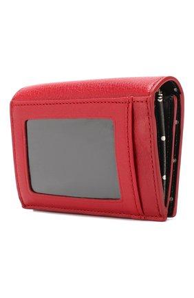 Кожаный кошелек на кнопке Kate Spade New York красного цвета   Фото №2