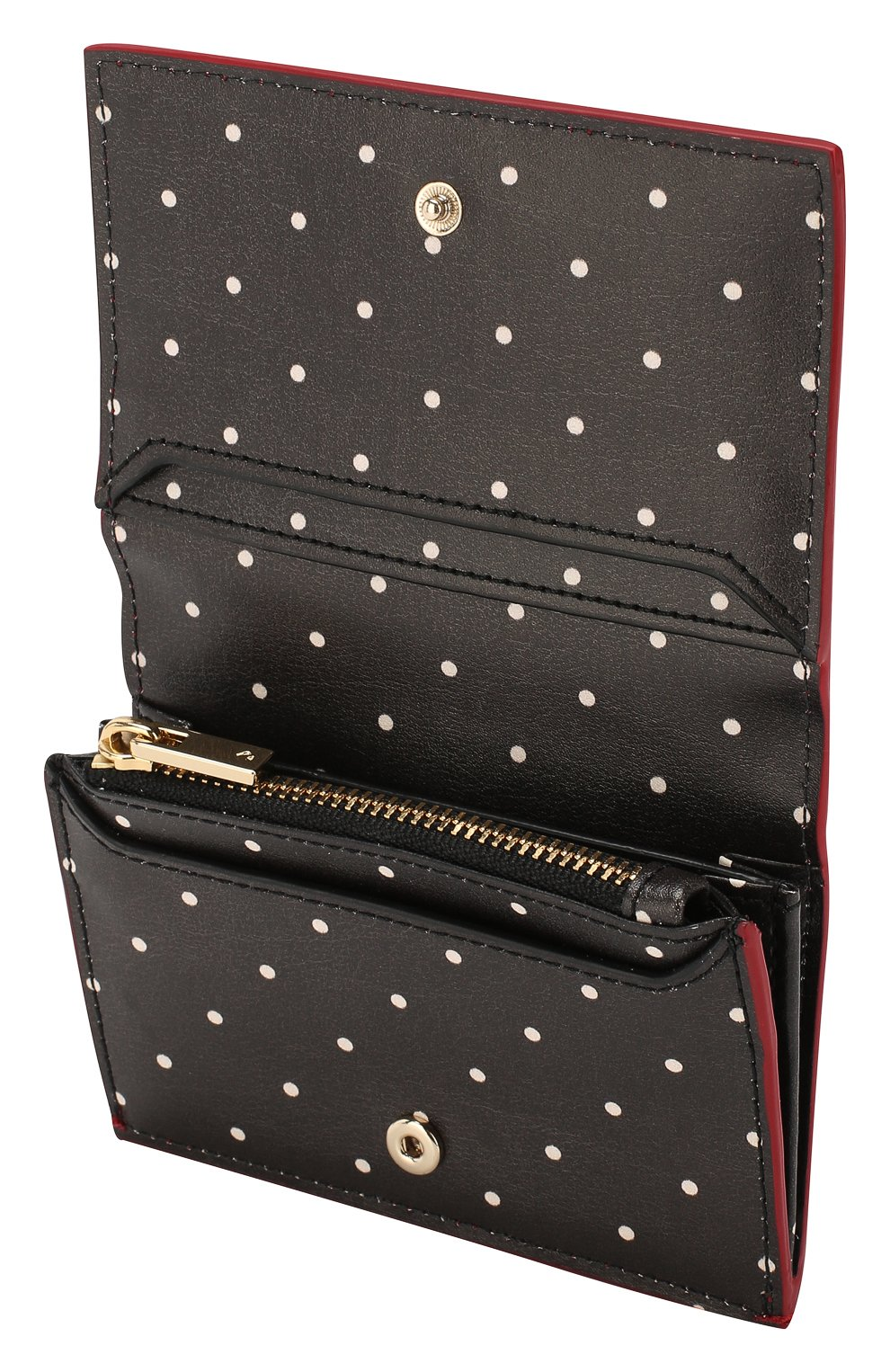 Кожаный кошелек на кнопке Kate Spade New York красного цвета   Фото №3