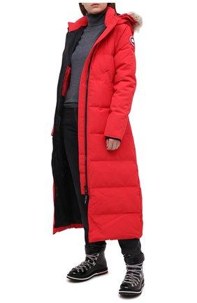 Женский пуховик mystique CANADA GOOSE красного цвета, арт. 3035L | Фото 2