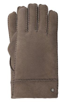 Кожаные перчатки с внутренней меховой отделкой | Фото №1