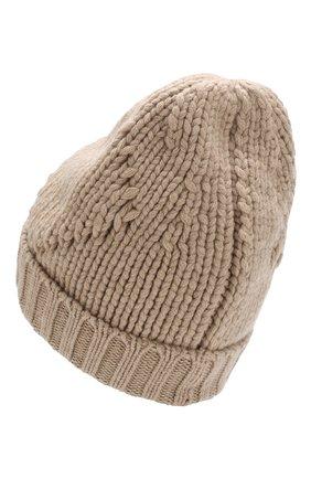 Мужская кашемировая шапка фактурной вязки LORO PIANA бежевого цвета, арт. FAG4443 | Фото 2