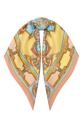 Женский шелковый платок faberge treasures RADICAL CHIC желтого цвета, арт. 370731.07.02   Фото 1