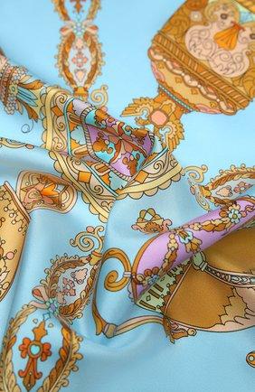 Женский шелковый платок faberge treasures RADICAL CHIC желтого цвета, арт. 370731.07.02   Фото 2