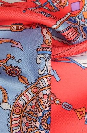 Женский шелковый платок ships of saint petersburg RADICAL CHIC красного цвета, арт. 370757.07.01   Фото 2