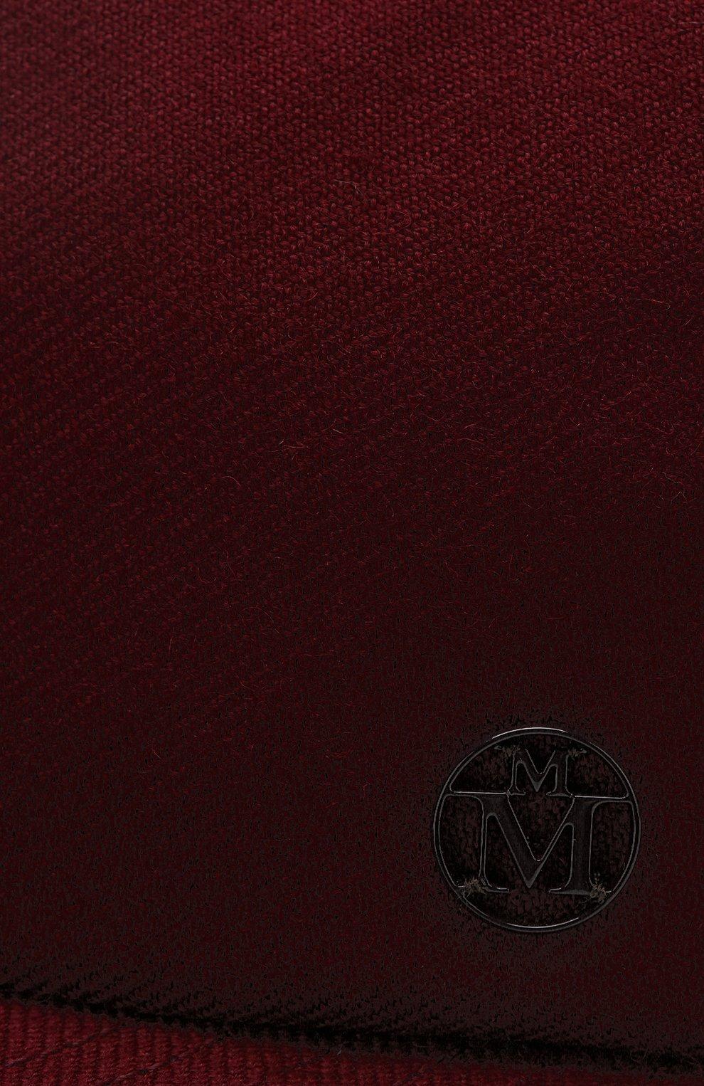 Шерстяная бейсболка Hailey Maison Michel бордового цвета   Фото №3