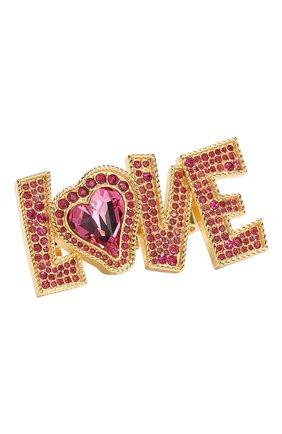 Кольцо Love с отделкой кристаллами Swarovski | Фото №1