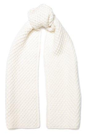 Кашемировый шарф Gray Glace фактурной вязки | Фото №1