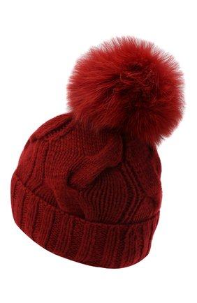 Женский кашемировая шапка courchevel LORO PIANA красного цвета, арт. FAI3621 | Фото 2