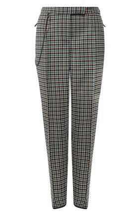 Шерстяные брюки с контрастной отделкой | Фото №1