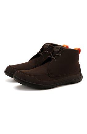 Текстильные ботинки на шнуровке   Фото №1