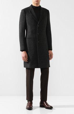 Однобортное пальто из шерсти | Фото №2