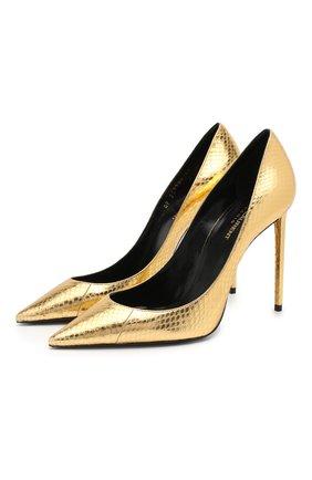 Туфли Zoe из металлизированной кожи с тиснением | Фото №1