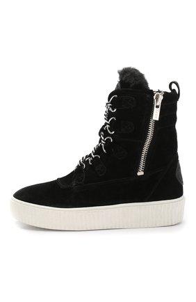 Высокие замшевые ботинки на шнуровке | Фото №3