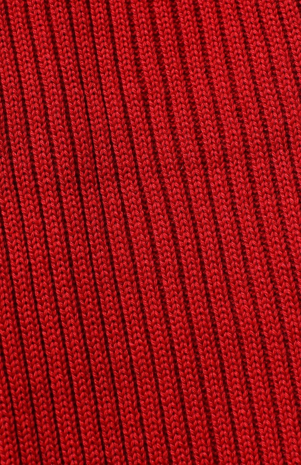 Комплект из шарфа и шапки с меховым помпоном   Фото №2
