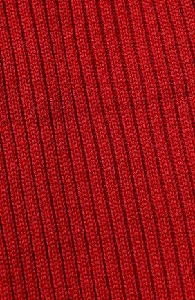 Комплект из шарфа и шапки с меховым помпоном | Фото №2