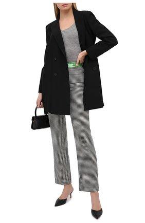 Женские брюки прямого кроя с узором SUBTERRANEI черно-белого цвета, арт. I8SUBFW18-005   Фото 2