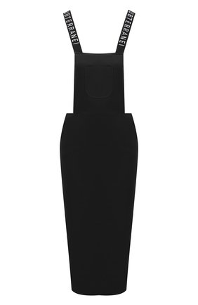 Женское хлопковый сарафан с логотипом бренда SUBTERRANEI черного цвета, арт. I8SUBFW18-001   Фото 1