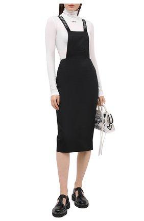 Женское хлопковый сарафан с логотипом бренда SUBTERRANEI черного цвета, арт. I8SUBFW18-001   Фото 2